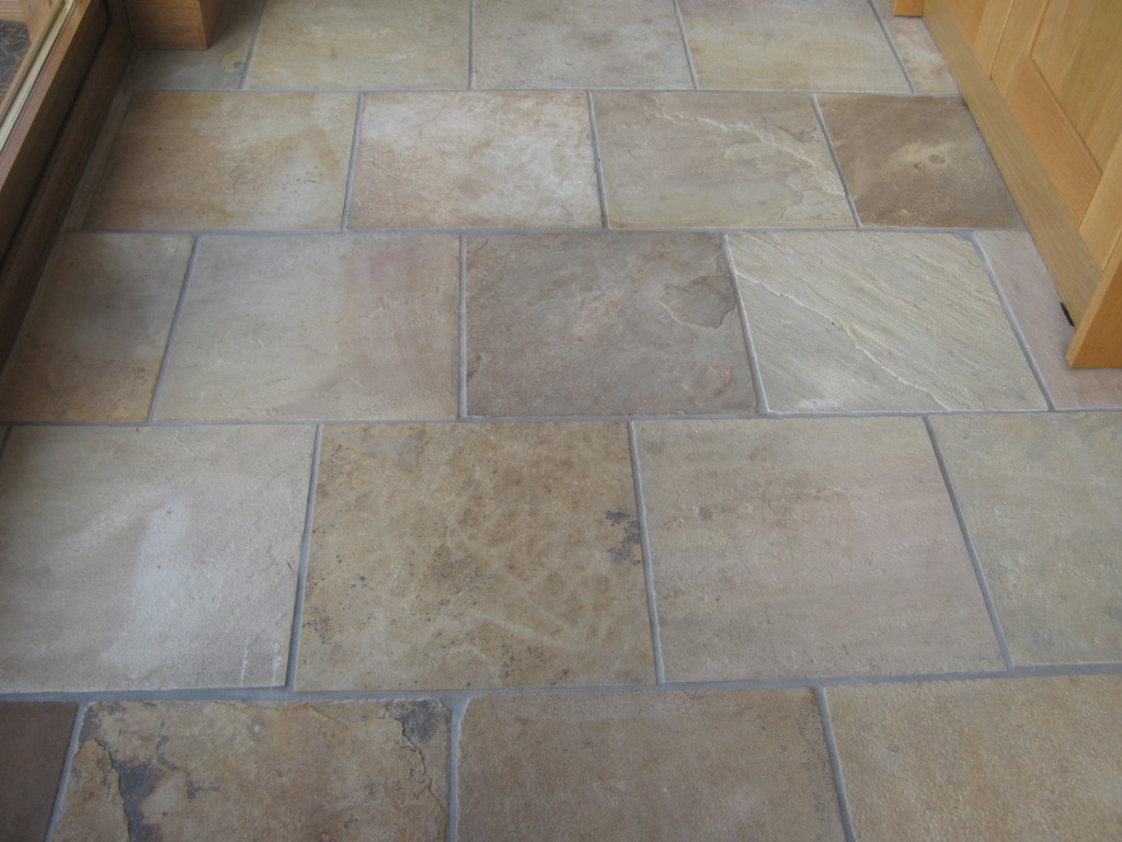 The tile cleaning company edinburgh and central scotland gallery the client asked to have the sandstone floor in her kitchen deep cleaned the floor was heavily soiled with dirt and grime as well as oil stains dailygadgetfo Image collections